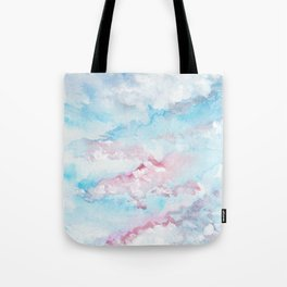 Pink and Blue Clouds . Sky Tote Bag