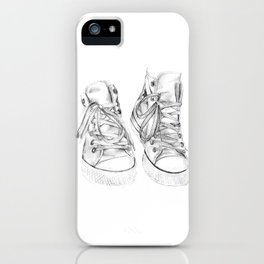 Hightop Shoes Illustration  iPhone Case