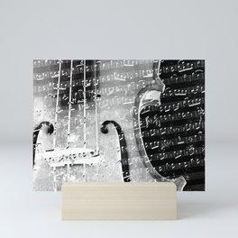 Violin musical note background effect Mini Art Print