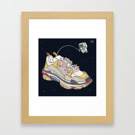 space sneaker 3 Framed Art Print