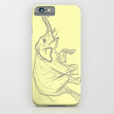 Elephant Swimming Gestural Drawing iPhone 6s Slim Case
