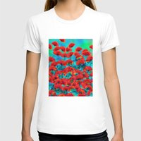poppies T-shirts featuring Poppies by Klara Acel