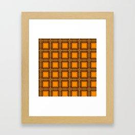 Scottish Tartan Orange Framed Art Print