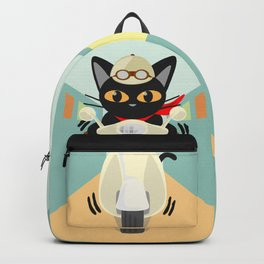 Scooter in the town Backpack