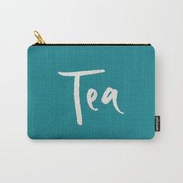 Teal Tea Carry-All Pouch
