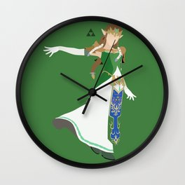 Princess Zelda(Smash)Green Wall Clock
