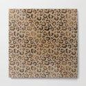 Brown Glitter Leopard Print Pattern by nlmiller07art