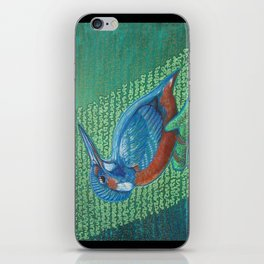 Kingfisher & Code (I KNOW It Means SOMEthing...) iPhone Skin