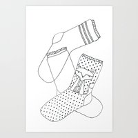 socks Art Prints featuring Socks.  by novacaeli