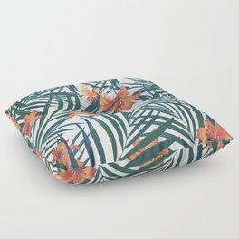 Tropical Lilies Floor Pillow