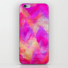 BOLD QUOTATION, Revisited - Intense Raspberry Peachy Pink Vibrant Abstract Watercolor Ikat Pattern iPhone Skin