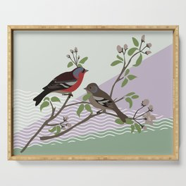 loving chaffinches Serving Tray