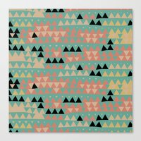 triangles Canvas Prints featuring triangles by spinL