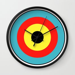 Isolated Archery Target Wall Clock