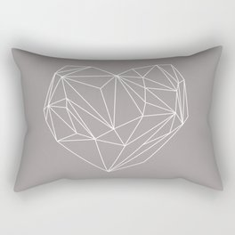 Heart Graphic Rectangular Pillow