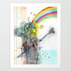 toward Art Print