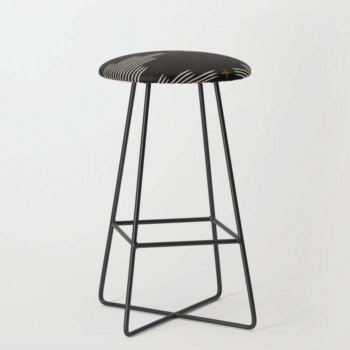 Southwestern Minimalist Black & White Bar Stool
