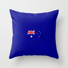 Minimal Australian Flag Throw Pillow