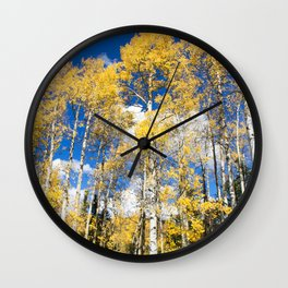 Colorado Aspens Wall Clock