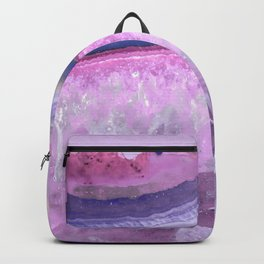 Ultraviolet and Pink Agate Backpack