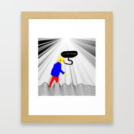 Poor Lost Guy Framed Art Print