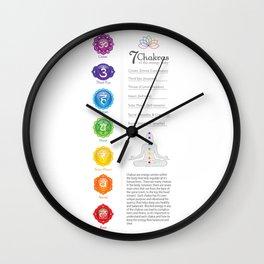 Seven Chakra Poster #43b Wall Clock