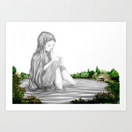 Taught By Stillness Art Print