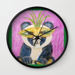 Panda Gras Wall Clock