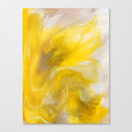 Yellow Abstact Flower Canvas Print
