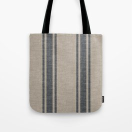 Farmhouse linen grey rustic grain sack texture vintage farmhouse lined linen design modern rustic Tote Bag