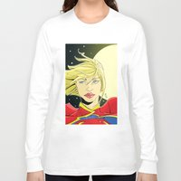 supergirl Long Sleeve T-shirts featuring New 52! Supergirl by Jeremy Gonzalez