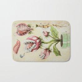 Piranha Plant Botanical Illustration Bath Mat