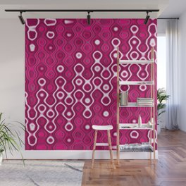 Lots in Dots (raspberry red) Wall Mural
