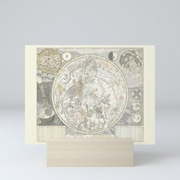 Star map of the Southern Starry Sky Mini Art Print