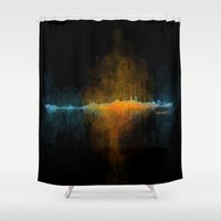 islam Shower Curtains featuring Istanbul City Skyline Hq v4 by HQPhoto