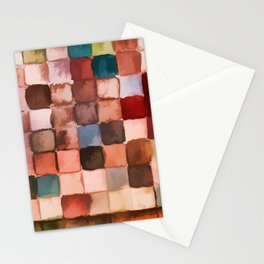 Colorful gift - Geometric watercolor Stationery Cards