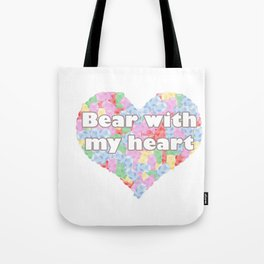 Bear with my heart Tote Bag