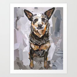 Sully The Heeler Art Print