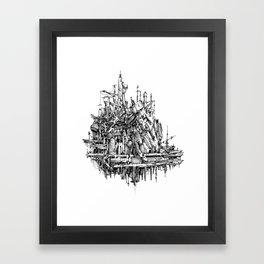 h hum Framed Art Print