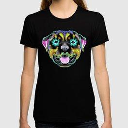 Rottweiler - Day of the Dead Sugar Skull Dog T-shirt