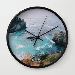 Big Sur blue Wall Clock