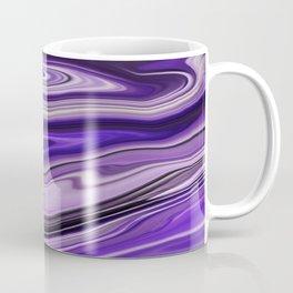Purple Waves Abstract Art, Digital Fluid Art Ripples Blend Coffee Mug