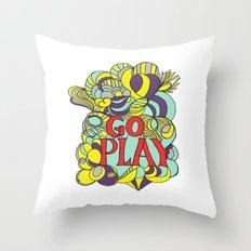 Go play Throw Pillow