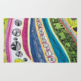 Abstract Stripes Rug