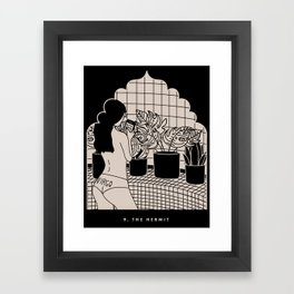 9. THE HERMIT Framed Art Print