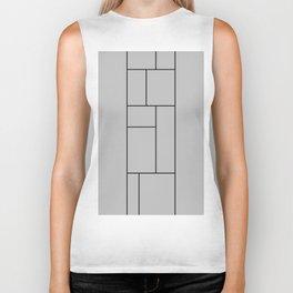 Squares Print Biker Tank