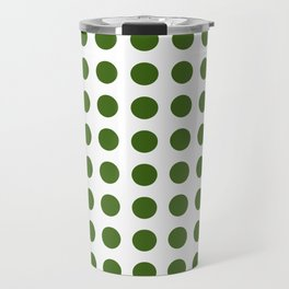 Simply Polka Dots in Jungle Green Travel Mug