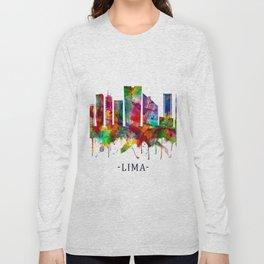 Lima Peru Skyline Long Sleeve T-shirt