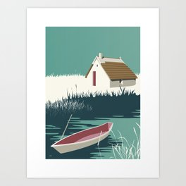 Boat Camargue Art Print