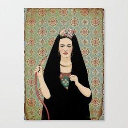 Frida & the Shisha Canvas Print